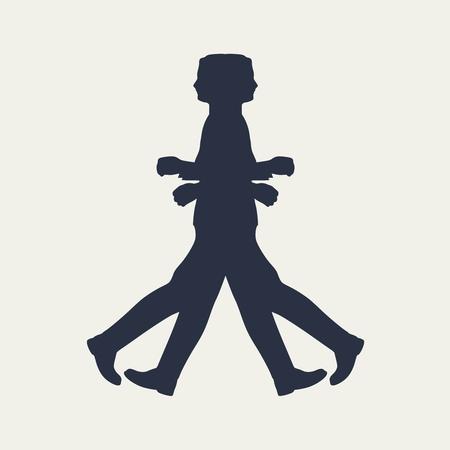 Two men meet each other. Abstract illustration. Modern lifestyle metaphor Stockfoto - 110074599