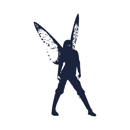 Butterfly with the body of a young ninja woman