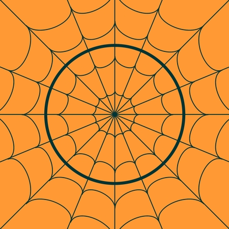 Cobweb background. Spiderweb for Halloween design. Spider web elements, spooky, scary, horror halloween decor Illustration