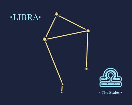 Astrology sign The Scales. Constellation design concept