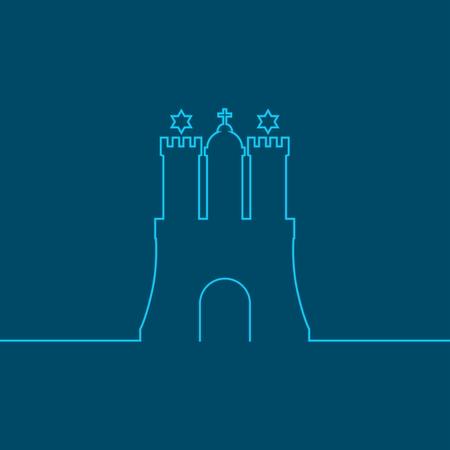 Plantilla de viaje. Elemento de contorno del escudo de armas de la ciudad de Hamburgo Ilustración de vector