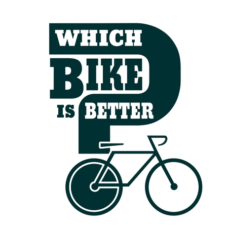 Which bike is better text. Bike choosing guide template  イラスト・ベクター素材