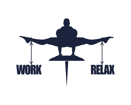 Balance between work and relax. Business concept image