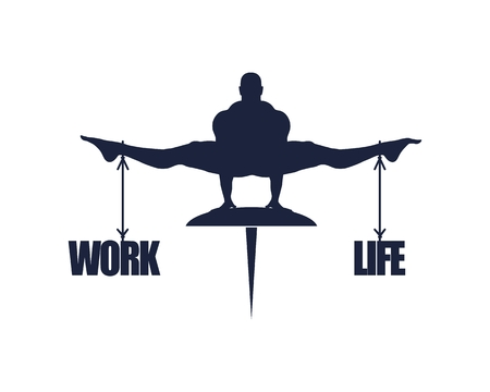 Balance between work and life. Concept image