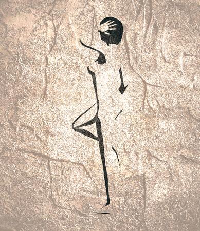 Beautiful sexy fitness girl. Pretty woman silhouette. Back view. Banco de Imagens - 122245038