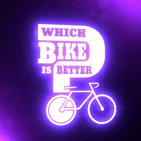 Which bike is better text. Bike choosing guide template. 3D rendering 写真素材