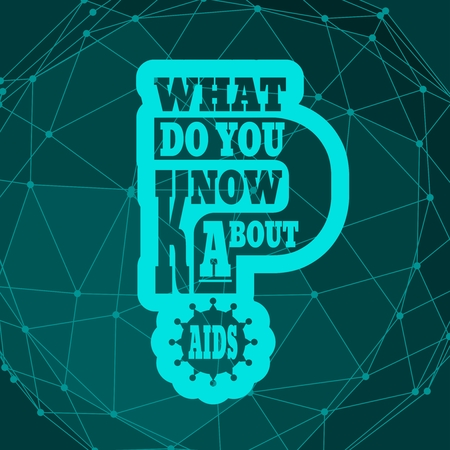What do you know about AIDS question. Medical education relative illustration