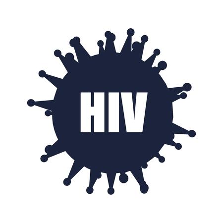Medical industry, biotechnology and biochemistry. Scientific medical designs. Virus diseases relative theme. HIV virus name