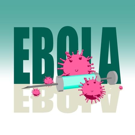 Abstract virus image on backdrop and zika text. Ebola virus danger relative illustration. Medical research theme. Virus epidemic alert