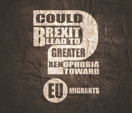 United Kingdom exit from European Union relative image. Brexit named politic process. Could brexit lead to to greater xenophobia toward EU migrants question.
