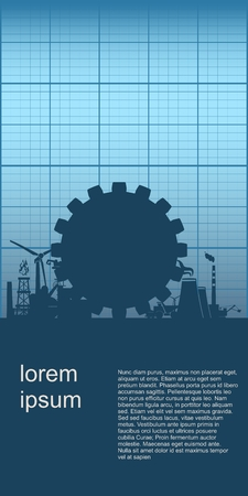 Energy and power brochure design. Energy generation and heavy industry.