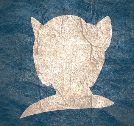 The silhouette of a woman head with cat ears