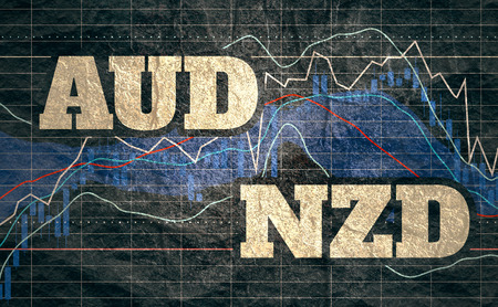 Forex candlestick pattern. Trading chart concept. Financial market chart. Currency pair. Acronym NZD - New Zealand Dollar. Acronym USD - United States Dollar.