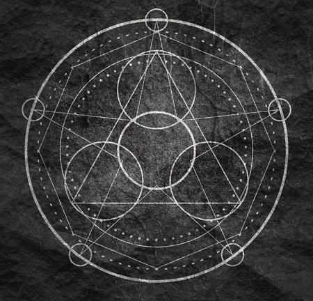 Mystical geometry symbol. 免版税图像