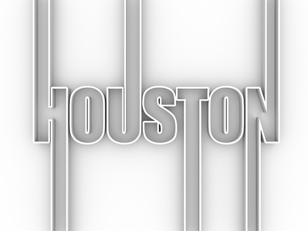 Houston city name. Banco de Imagens