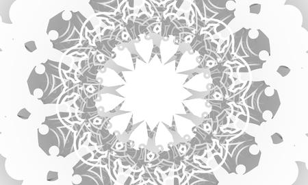 Decorative design element. Patterns with geometric ornament. Circular ornamental symbol. 版權商用圖片