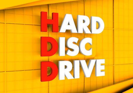 Acronym HDD - Hard Disc Drive. Technology conceptual image. 3D rendering. Stock fotó