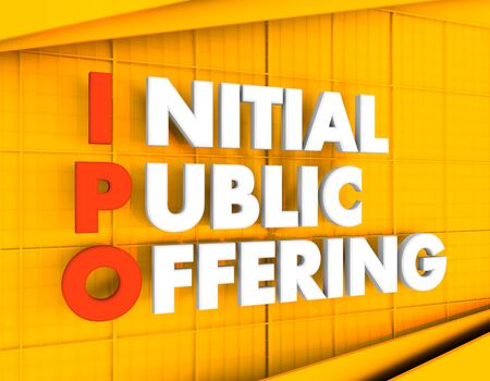 Acronym IPO - Initial Public Offering. Business conceptual image. 3D rendering.