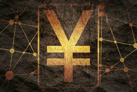 Yen sign. Molecule And Communication