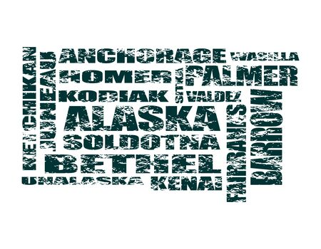 Image relative to usa travel. Alaska state cities list Banque d'images - 127900932