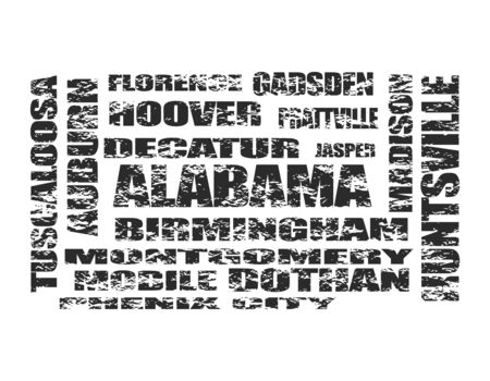Image relative to usa travel. Alabama state cities list Banque d'images - 127996734