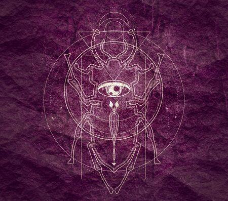 Symbole occulte mystique.