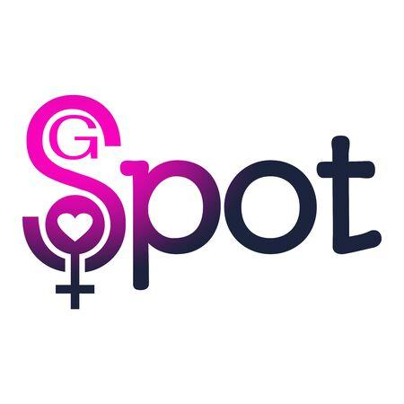 Metaphor of exploring female sexuality. Spot-g erogenous zone concept.