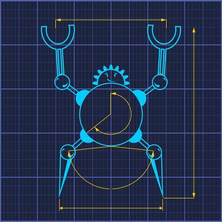 Robotics industry relative image. Иллюстрация