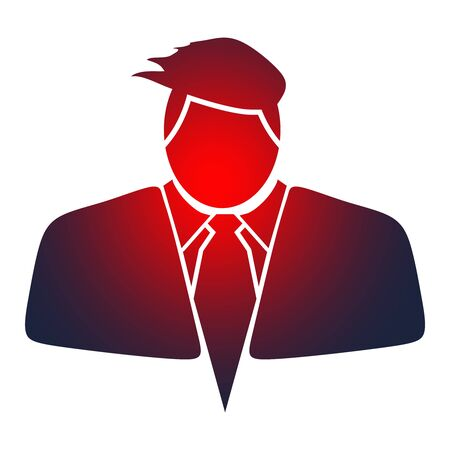 Businessman in suit icon.