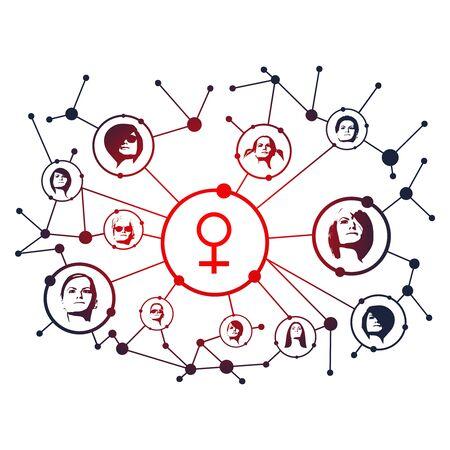 Women social media network.