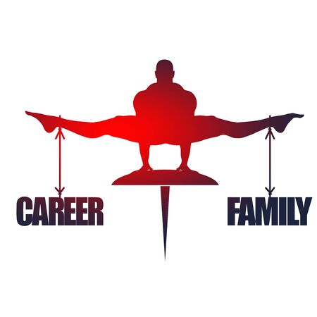 Balance between career and family. Concept image