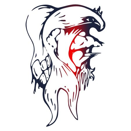 Fairy tail illustration concept. Abstract mystic tattoo Ilustração