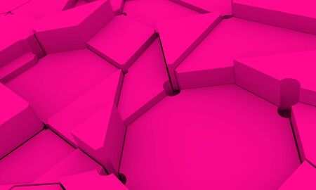 Design brochures with polygonal background. 3D rendering. Splattered polygones 写真素材