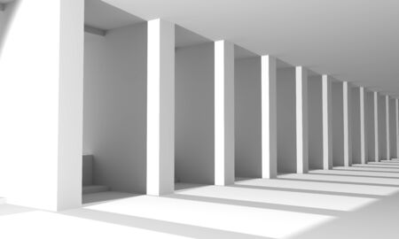 Modern urban architecture. Abstract background. Part of the building. 3D rendering Stock fotó - 129779514