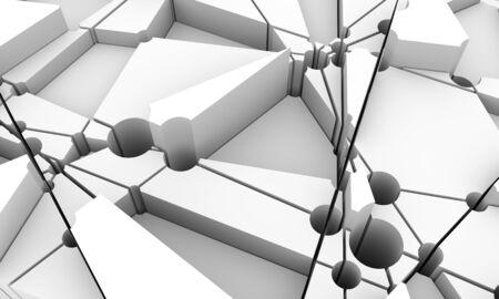 Design brochures with polygonal background. 3D rendering. Splattered polygones Stock fotó