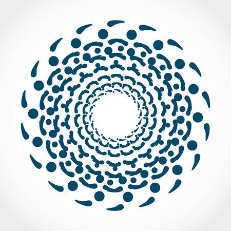 Decorative design element. Patterns with geometric ethnic ornament. Circular ornamental symbol.