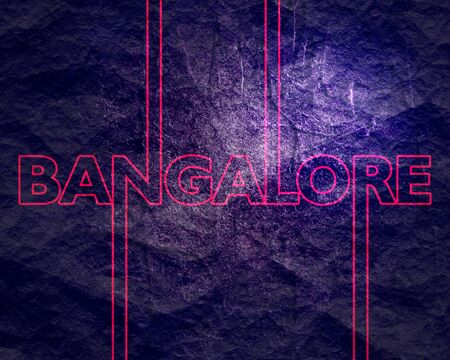 Image relative to India travel theme. Bangalore city name in geometry style design. Creative vintage typography poster concept.