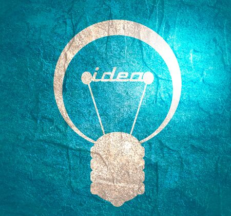 Lamp icon. Illustration of brainwork, idea appearance. Switch on bulb icon with idea text. Stock fotó