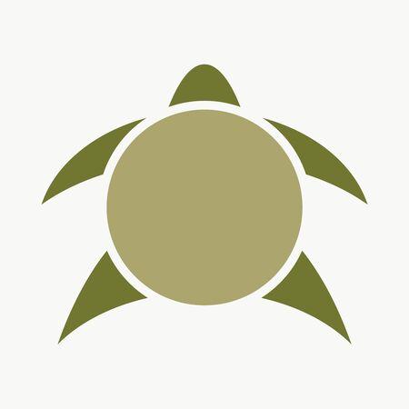 Silhouette stylized sea turtle. Turtle symbol for branding