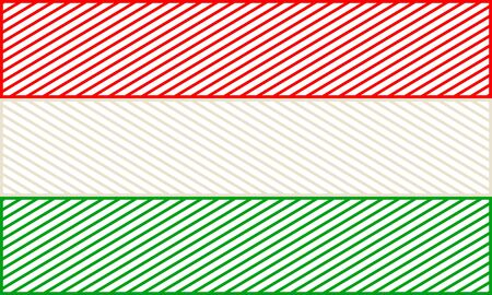 Hungary national thin line style flag. Celebration card template for independence day.