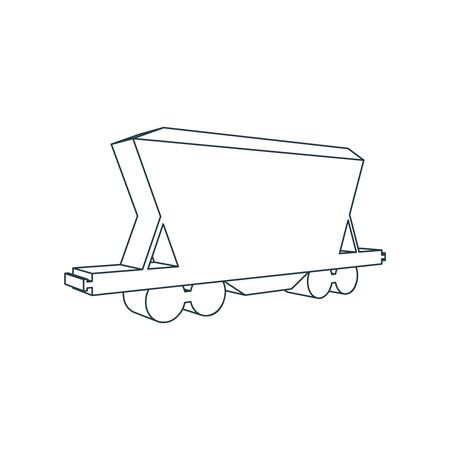 Isometric freight icon. Industry and transportation concept 向量圖像