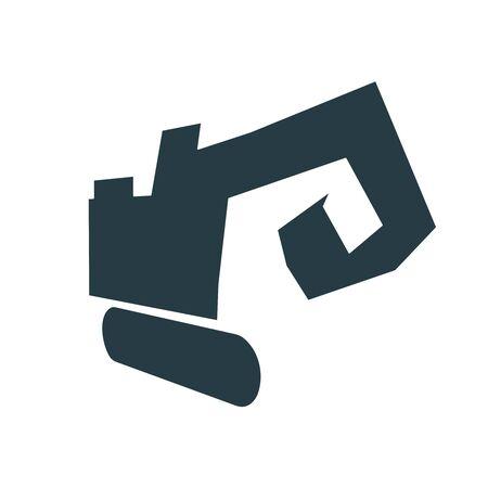 Isometric big excavator icon. Technology and engineering