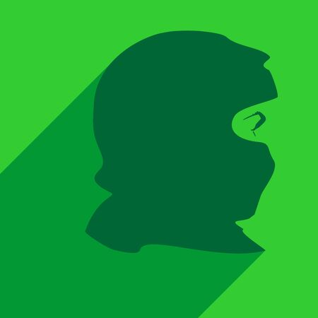 Face profile view. Elegant silhouette of a muslim woman with hijab.