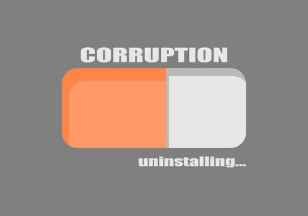 Corruption level indicating. Color scale. Colorful infographic element. Progress or loading bar. Иллюстрация