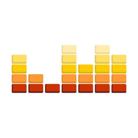 Illustration of colorful musical bar showing volume. Concept of equalizer