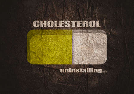 Cholesterol meter. The measuring device icon. Infographic element. Progress or loading bar.