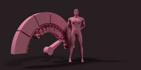 Scale of L- Carnitine level measuring device. Sign tachometer, speedometer, indicators. Infographic gauge element. Muscular man. 3D rendering