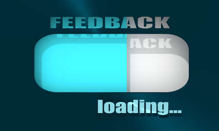 Customer feedback level scale. The measuring device indicator. 3D rendering