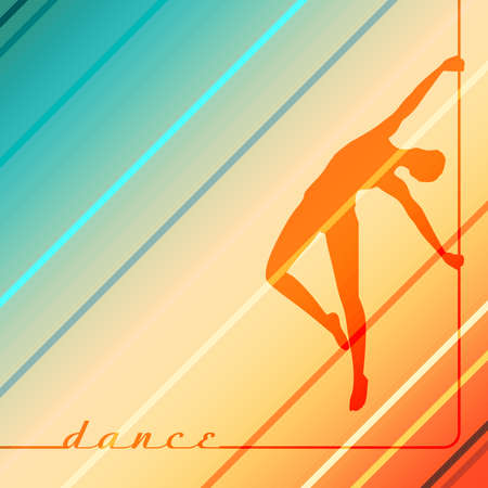 Silhouette of girl and pole. Pole dance illustration. Stockfoto - 151338517