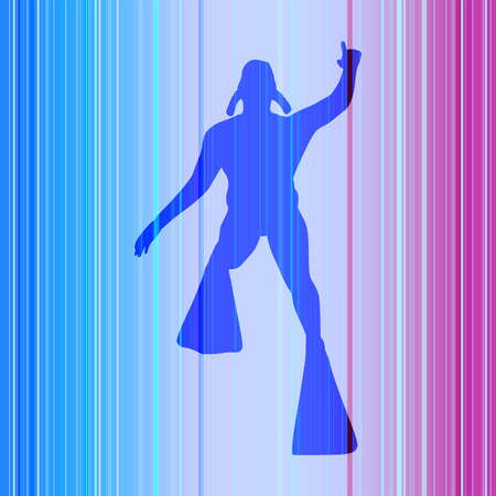 Silhouette of diver. Icon diver. The concept of sport diving. Stock Illustratie